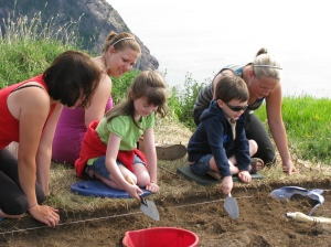 Young archaeologists in training!